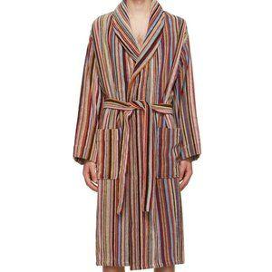 PAUL SMITH Signature stripe cotton bathrobe~XL